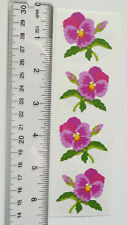 Mrs Grossman PANSY - Strip of VINTAGE 1994 Discontinued Pansy Stickers
