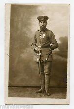 Carte-photo soldat . Militaire Allemand . Décorations, médailles. GÜNZBURG 1916