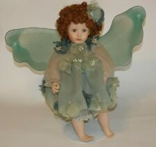 Cindy McClure Green Flower Fairy Porcelain Doll By Victoria Impex