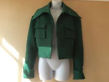 Ellery Forest Green Jacket Coat Silk Trim UK 10 Military Army NEW