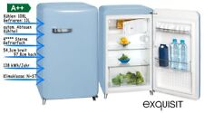 Kühlschrank mit Gefrierfach Freistehend Retro A++ 55cm Breit Blau