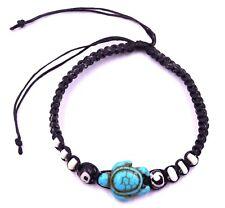 Bracelet de l'Amitié Tortue Porte Bonheur Homme Femme taille ajustable noir bleu