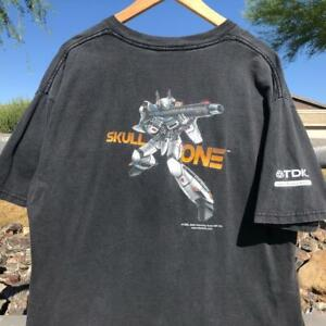 VTG Y2K Gildan Robotech Skull One 2002 Video Game Gamer Promo T Shirt XL