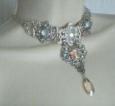 Crystal Choker Necklace, edwardian victorian bridal renaissance art deco wedding