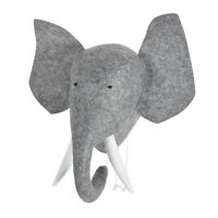 Felt Animal Elephant Head Wall Hanging For Baby Room Decor  Stuffed Toys Gift