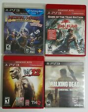 Ps3 Games Lot of 4 Walking Dead, WWE '12, Medieval Moves,  Dead Island  Nice!