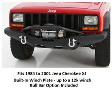 Front Bumper w/ Built-In Winch Plate and Bull Bar Option for 84-01 Cherokee XJ