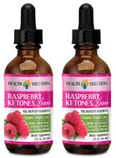 Raspberry Ketones Liquid - Weight Loss Drops - Fast Absorbing - 2 Bottles