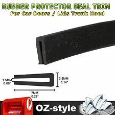 Rubber Seal Trim U Shape Strip Car Auto Door Window Sharp Edge Protection 4.5M