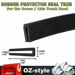 Edge Seal Trim Rubber Material Prevent Scratches Car Door Window Protection 4.5M