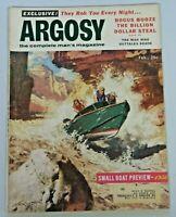 Vintage ARGOSY Men's Magazine February 1956 Frank McCarthy Speed Boat Cover 311