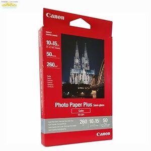 "Canon Photo Paper Plus Semi-Gloss Satin SG-201 4x6"" - 50 Sheets"
