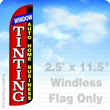 WINDOW TINTING - WINDLESS Swooper Feather Flag 2.5x11.5 Banner Sign - rz