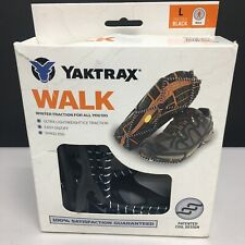 NEW Large Yaktrax Walk Traction Cleats for Walking on Snow/Ice Black s1