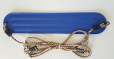 STRAP SWING SEAT WITH ROPE~ BLUE  Outdoor Swing Set Playground Equipment Kid