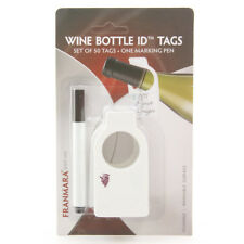 Franmara Reusable Wine Bottle Tags (50 Count) with Dry Erase Marker