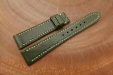 19mm/16mm Dark Green Genuine ITALIA CALF Leather Watch Strap Band