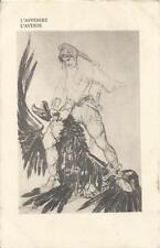 """CARTOLINA VIAGGIATA (1917)_PRIMA GUERRA MONDIALE _""""L'AVVENIRE / L'AVENIR""""_TIMBRI"""