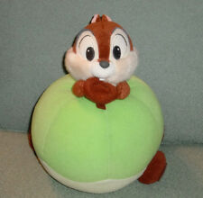 Disney CHIP & Dale Riding Green Apple Plush Toy Sega Stuffed Animal Toy