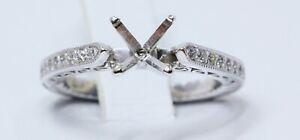 Vintage Art Deco Filligree Engagement Ring Setting for 1ct Diamond