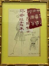 """Fab, Original Pierre Balmain Couture No.61 Couture Fashion Plate"""