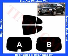 Pre Cut Window Tint Daewoo Leganza 4D 97-03 Rear Window & Rear Sides Any Shade