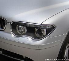 BMW 7 Series E65-E68 2002-2005 Head Light Headlight Chrome Trim Set (trims only)