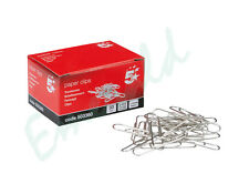100 Plain Paper Clips 33mm Steel With Box & Same Day Dispatch