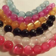 Polyester Cat's Eye Beads: 40x4mm / 40x6mm / 40x8mm / 30x10mm in 6 colourways