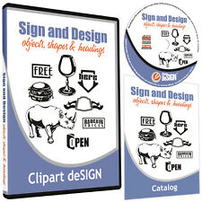 SIGNMAKING CLIPART-VINYL CUTTER PLOTTER CLIP ART IMAGES-VECTOR ART CD