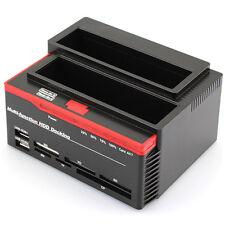 "2.5""/3.5"" 1 SATA Chic 1 IDE HDD Dock Clone Docking Station USB HUB+card reader"
