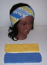 Lot of 3 Crochet Ear Warmer/Headbands--French Country,Lemon, & Lt. Periwinkle
