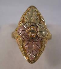 Black Hills Gold 10K LARGE Leaf Ring