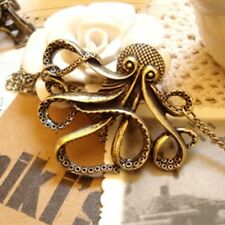 OCTOPUS Pendant NECKLACE Nautical STEAMPUNK Costume PIRATE Accessory GOTH Charm