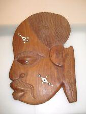 Afrikanerin Wandmaske  Maske  Holzmaske African Mask Wood Holz 50er/60er
