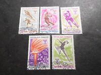 FRANCE 1968, timbres 1543/1547, SPORTS JEUX OLYMPIQUES GRENOBLE, oblitéré, VF