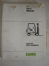 Clark Electric Fork Lift Truck Parts Manual Book Hwp465 Copyright 1976