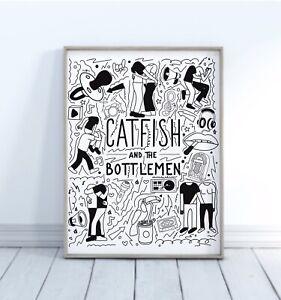 Catfish and The Bottlemen Doodle Print Wall Art