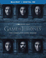 Game of Thrones Complete Sixth Season 6 (Blu-Ray 4-DISCS ONLY) NO COVER ARTWORK