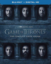 GAME OF THRONES SEASON 6 (Blu-ray Disc, 2016, Includes Digital Copy) - NEW -