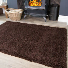 Brown Shaggy Rug Soft Cosy Warm Thick Non Shed Plain Living Room Shaggy Rugs