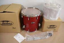 Pearl Masters All Maple Shell Drum Kit 2-Piece - Vermillion Sparkle 1616F +1309T