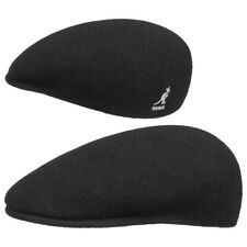 Kangol Unisex Wool 504 Flat Cap Black Medium