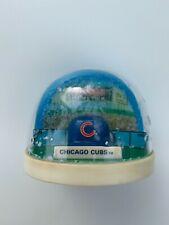 Vtg Chicago Cubs Baseball Snowglobe Snowdome Fandome Ball Cap Mlb