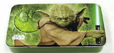 Star Wars Yoda with Lightsaber Art Tin Catch All Storage Box, NEW UNUSED
