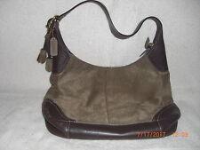 Authentic Coach Brown Suede & Leather Hamilton Hobo Handbag 10821