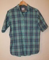 One Valley Mens Blue Mix Short Sleeve Check Shirt Medium 100% Cotton