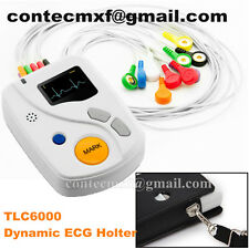 TLC6000 48 hours Recorder&Analysis software, Dynamic ECG / EKG holter,USB,OLED