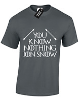 YOU KNOW NOTHING JON 2 MENS T SHIRT GAME OF SNOW TYRION THRONES KING NORTH S-5XL