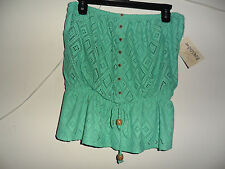 Rewind Crochet Tube Top Juniors Jeweled Jade color Size:Medium New with tag